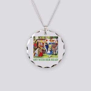 Off With Her Head! Necklace Circle Charm