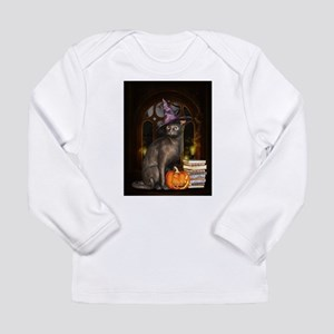 Witch Kitty Cat Long Sleeve T-Shirt