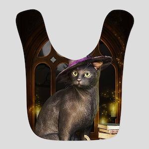 Witch Kitty Cat Polyester Baby Bib