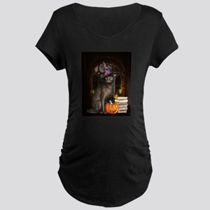Witch Kitty Cat Maternity T-Shirt