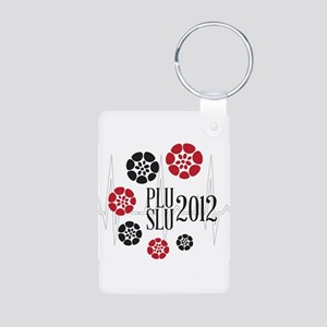 PLU SLU 2012 Pan flowers Aluminum Photo Keychain