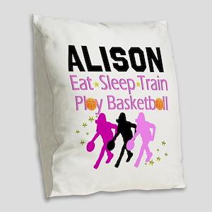 BEST BASKETBALL Burlap Throw Pillow