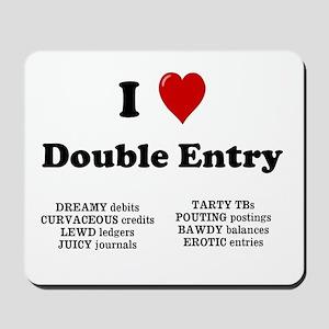 Rude Accountant Gift - Double Entry Mousepad
