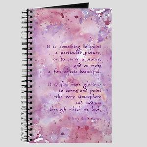 Thoreau Paint Quote Journal