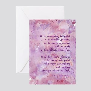 Thoreau Paint Quote Greeting Cards (Pk of 10)