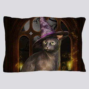 Witch Kitty Cat Pillow Case