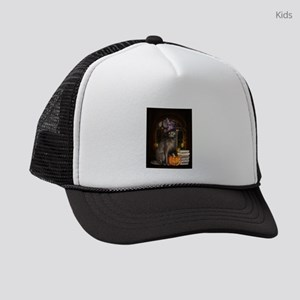 Witch Kitty Cat Kids Trucker hat