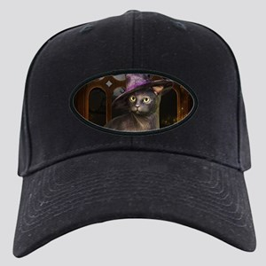 Witch Kitty Cat Black Cap with Patch