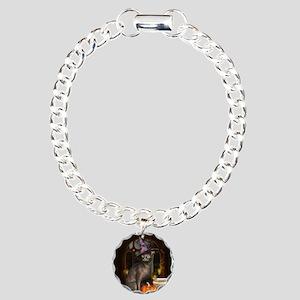 Witch Kitty Cat Charm Bracelet, One Charm