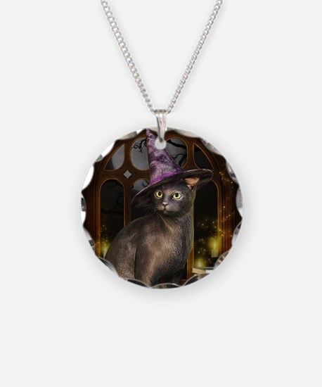 Witch Kitty Cat Necklace