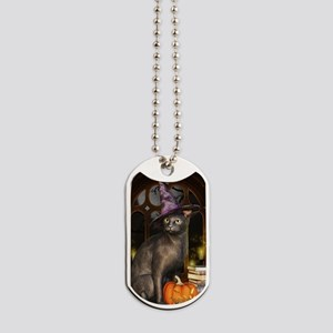 Witch Kitty Cat Dog Tags