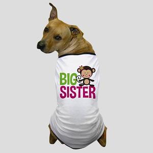 Monkey Big Sister Dog T-Shirt