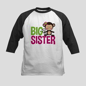 Monkey Big Sister Baseball Jersey