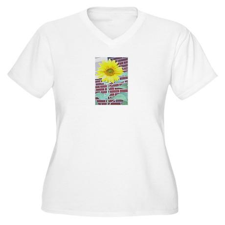 SunFlower Women's Plus Size V-Neck T-Shirt