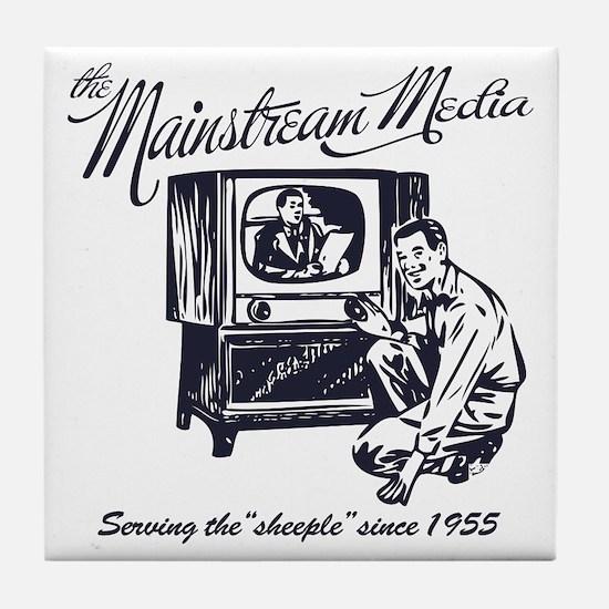 The Mainstream Media Tile Coaster