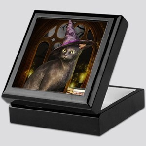 Witch Kitty Cat Keepsake Box