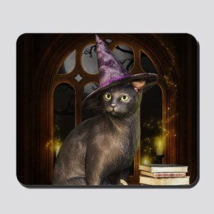 Witch Kitty Cat Mousepad