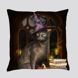 Witch Kitty Cat Everyday Pillow