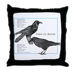 Raven vs. Crow - Throw Pillow