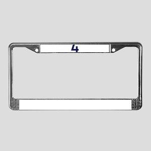 Number four 4 License Plate Frame