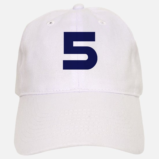 Number Five 5 Baseball Baseball Cap