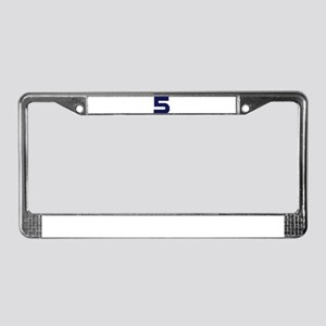 Number Five 5 License Plate Frame