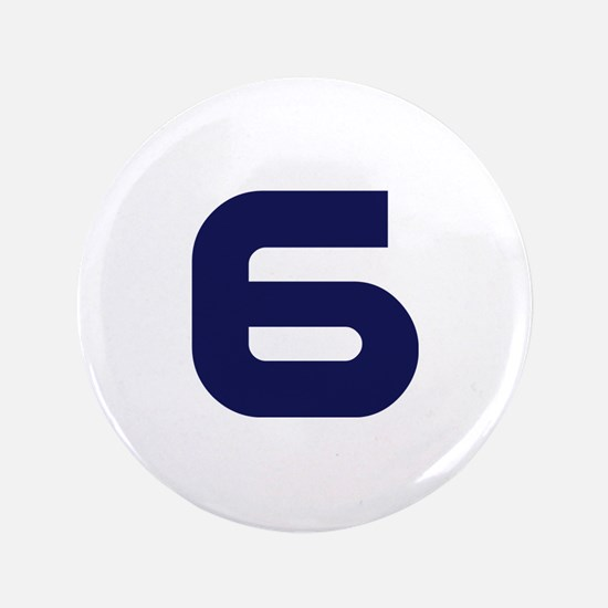 "Number six 6 3.5"" Button"