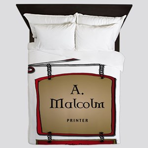 Jamie A. Malcolm Printer Queen Duvet
