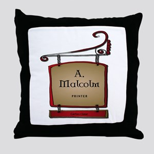 Jamie A. Malcolm Printer Throw Pillow