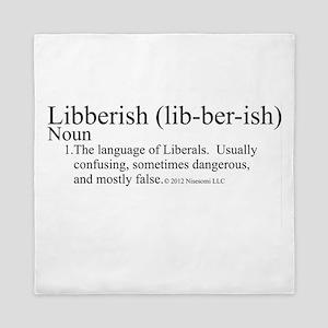 Libberish Definition BW Queen Duvet