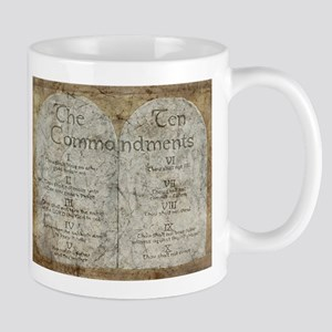 Ten Commandments 10 Laws Desi Mug