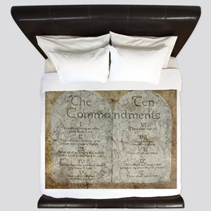 Ten Commandments 10 Laws Desi King Duvet