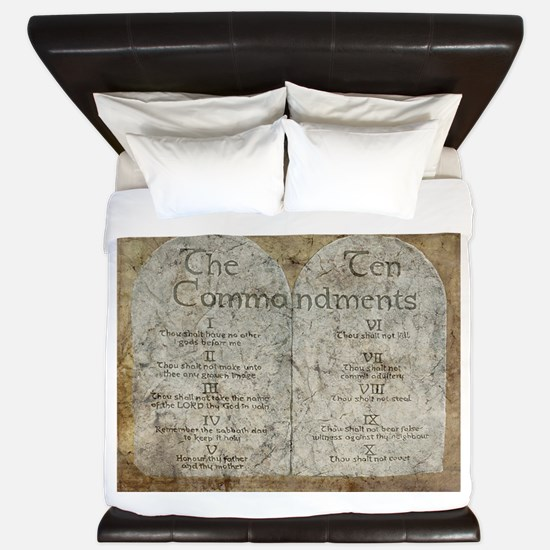 Ten Commandments 10 Laws Desi King Duvet