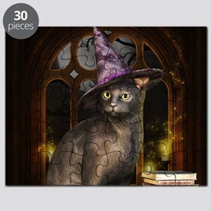 Witch Kitty Cat Puzzle