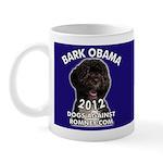 "Dogs Against Romney ""Bark Obama"" Mug"