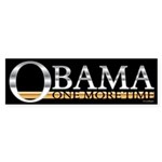 Obama One More Time Sticker (Bumper 50 pk)