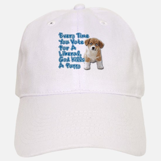 God Kills A Puppy Baseball Baseball Cap
