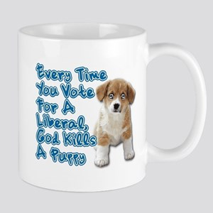 God Kills A Puppy Mug