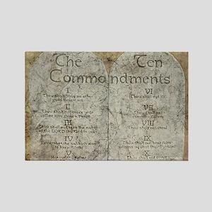 Ten Commandments 10 Laws Desi Rectangle Magnet