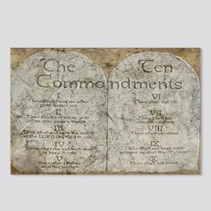 Ten Commandments 10 Laws Desi Postcards (8 Pk)