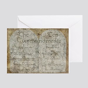 Ten Commandments 10 Laws Desi Greeting Card