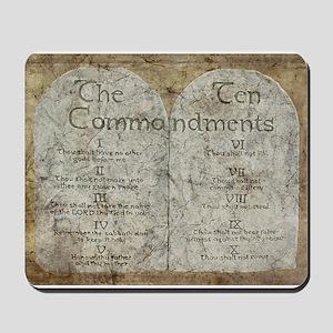 Ten Commandments 10 Laws Desi Mousepad