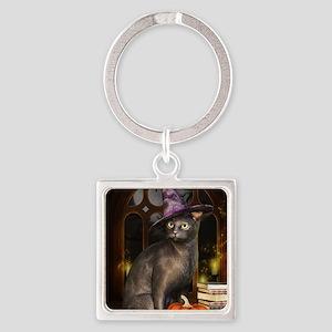 Witch Kitty Cat Keychains