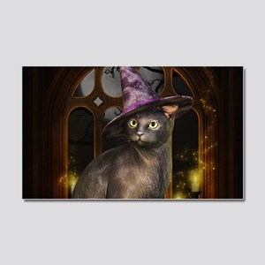 Witch Kitty Cat Car Magnet 20 x 12