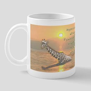 Swimming With Giraffes Mug