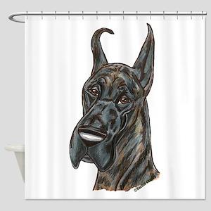 darkbrindle Shower Curtain