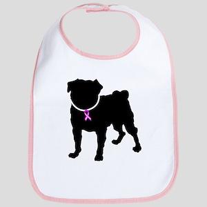 Pug Breast Cancer Support Bib