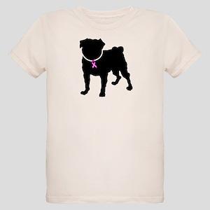 Pug Breast Cancer Support Organic Kids T-Shirt
