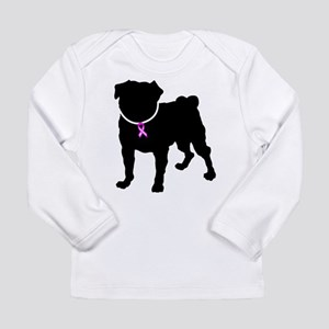 Pug Breast Cancer Support Long Sleeve Infant T-Shi