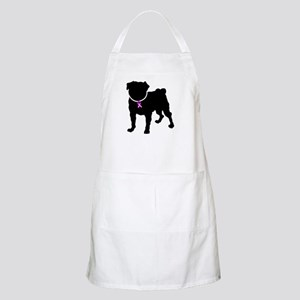 Pug Breast Cancer Support Apron